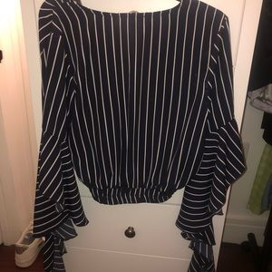 Topshop Bell sleeve crop top